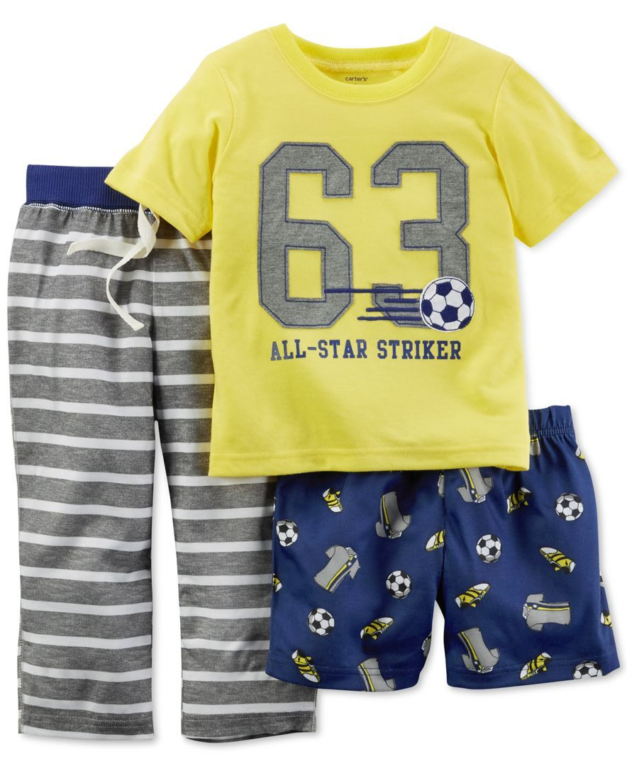 INFANT BOY/'S SHORT PAJAMA SET *NWT CARTER/'S 2-PC SHORT SLEEVES