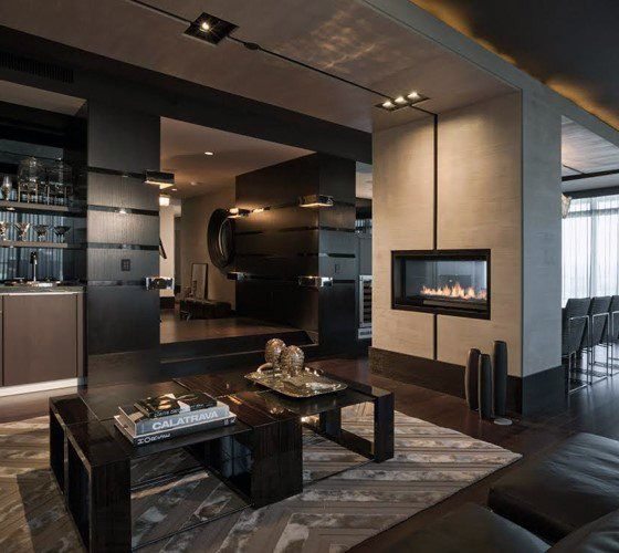 Ultimate Bachelor Pad Modern Male Living Spaces Parlor