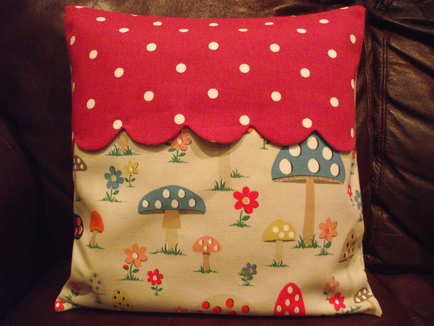 Handmade cushion cover in cath kidston by breifnecottage on etsy