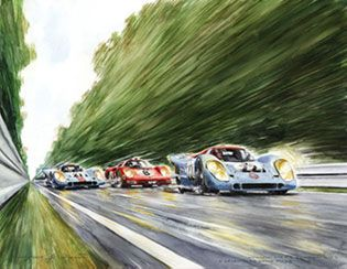 Incroyable Car Painting, Car Posters, Le Mans, Jeep 4x4, Car Drawings, Impressionist  Art, Automotive Art, Car Sketch, Vintage Racing