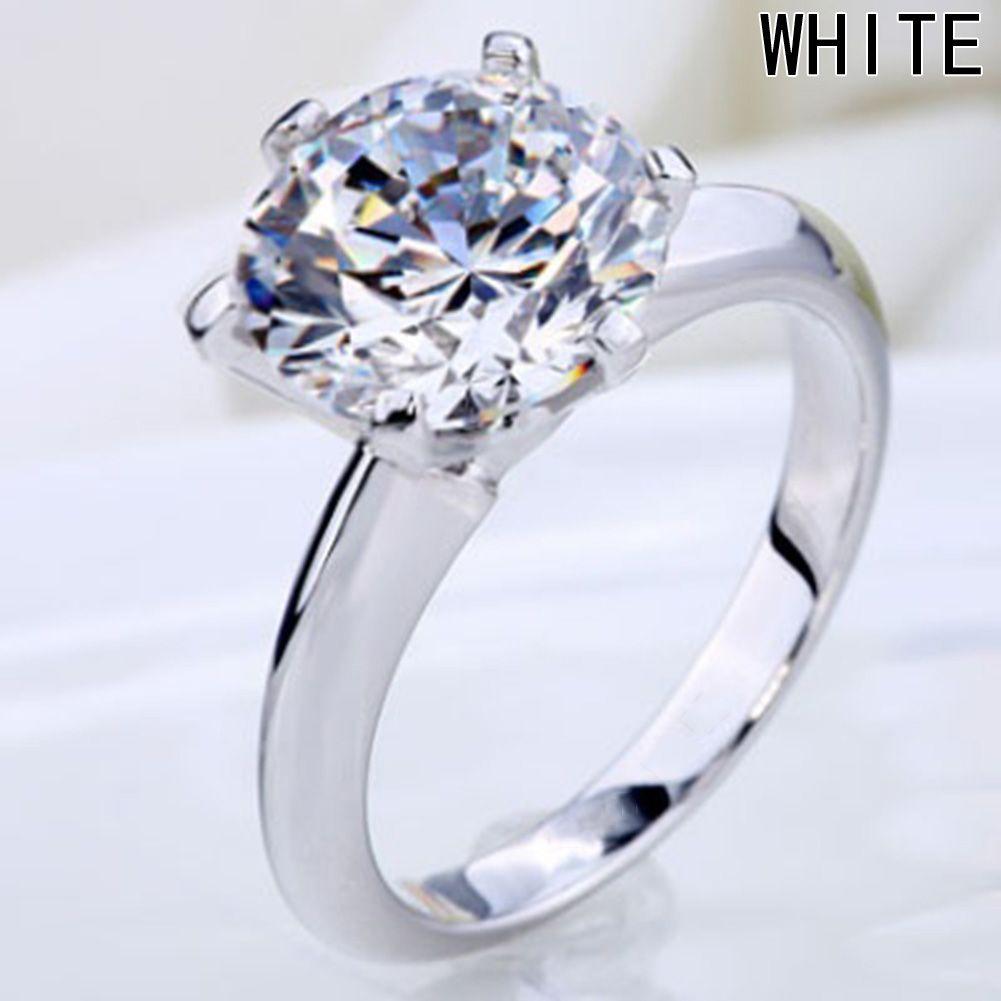 Aaa cubic zirconia wedding rings for women luxury