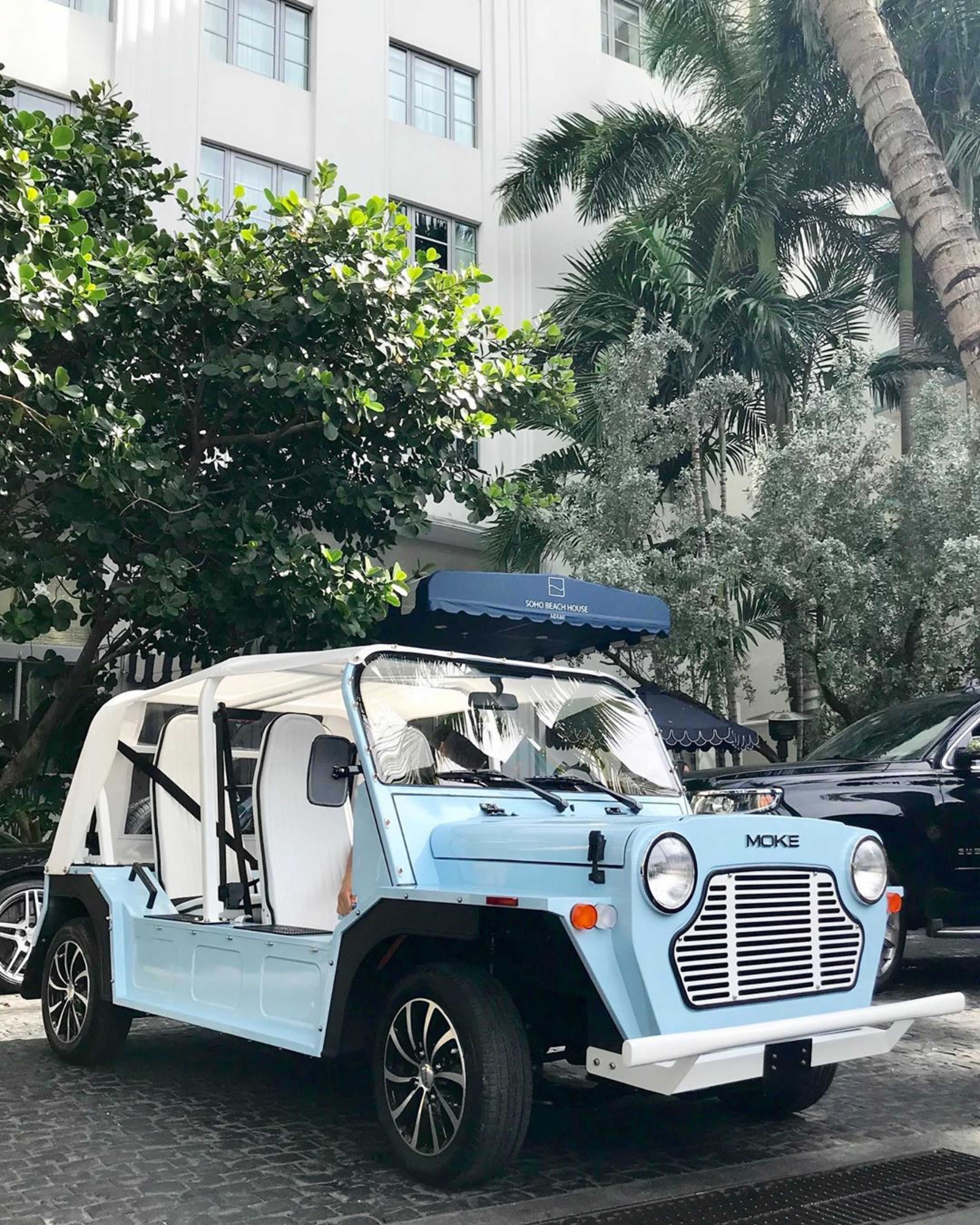 We're ready for a great week! 🚙💨   #MokeAmerica #ElectricCar #MondayMotivation #WeDeliver #Moke #BabyBlue