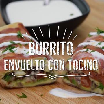 Receta De Burrito Norteño De Bistec Envuelto En Tocino Video Receta Video Recetas De Comida Comida Recetas De Comida Fáciles