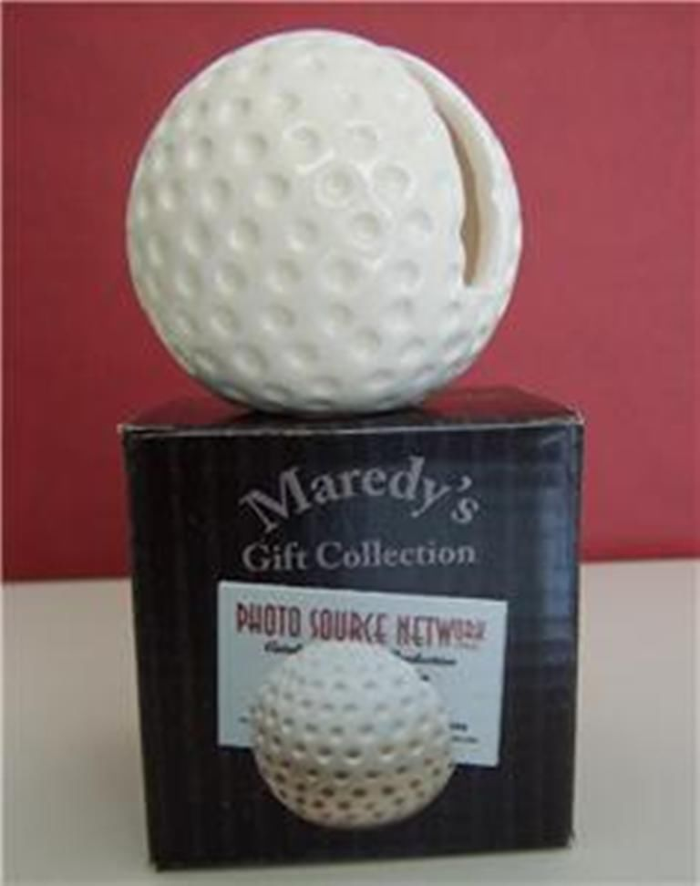 Golf Ball Ceramic Desktop Business Card Holder Novelty | Golf ...