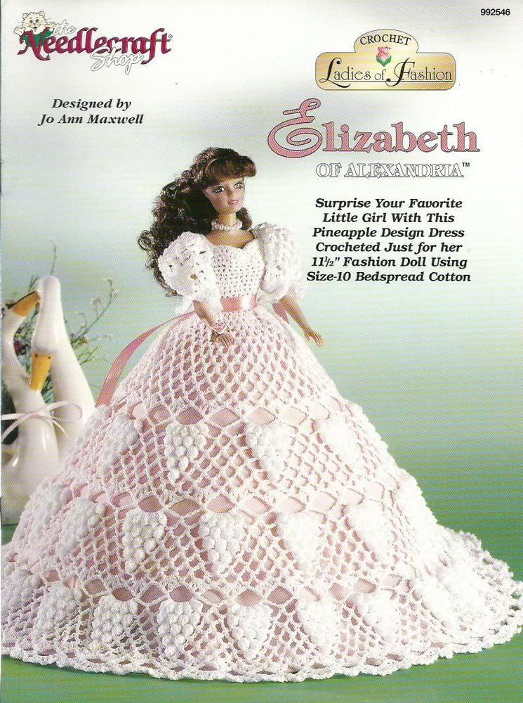Elizabeth of Alexandria Ladies of Fashion Crochet Pattern for Barbie ...