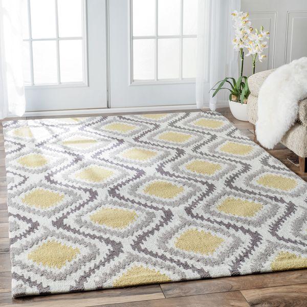 Shop For NuLOOM Handmade Trellis Modern Ikat Wool Area Rug X Get Free