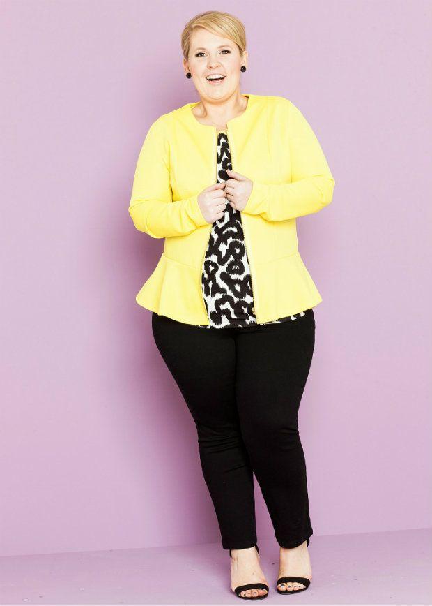 Maite Kelly Kollektion Sommer 2015 #yellow #blazer #maitekelly #plussizefashion #plussize