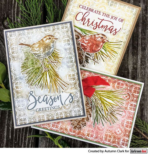 stamped christmas cards by autumn clark using darkroom. Black Bedroom Furniture Sets. Home Design Ideas
