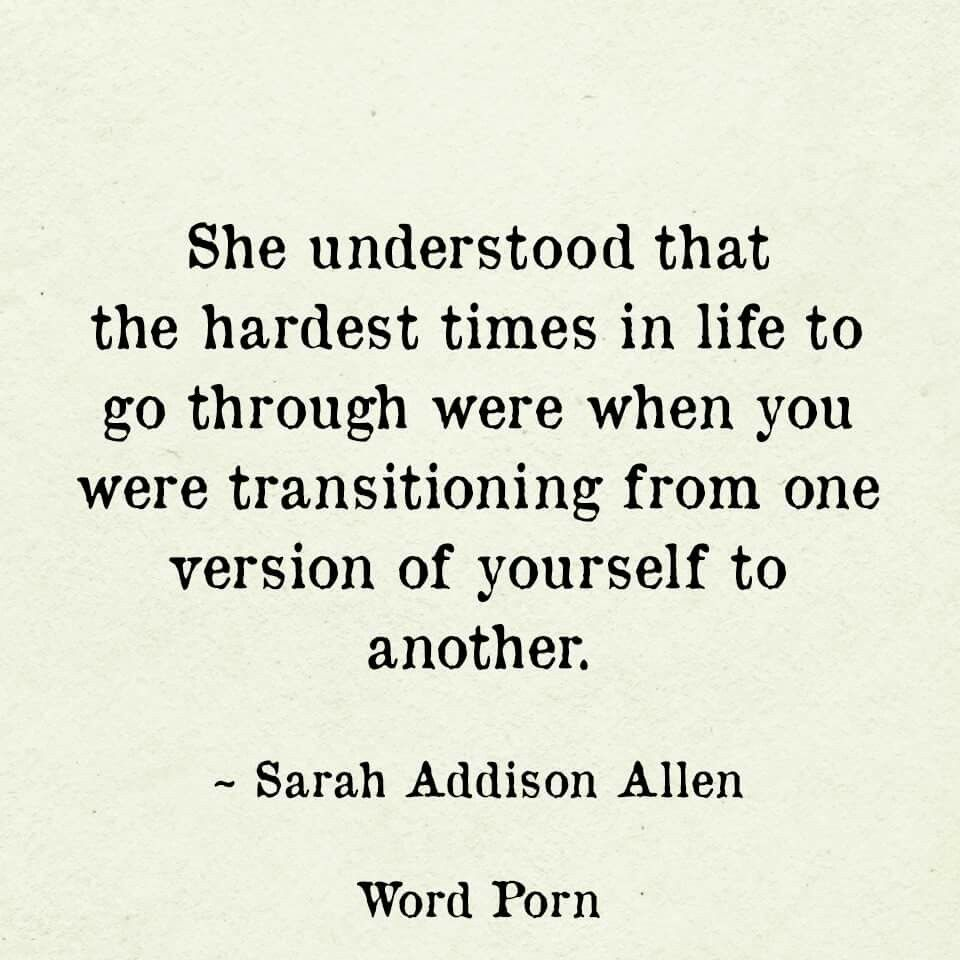 It can be. No one wants you to change   Transition quotes ...