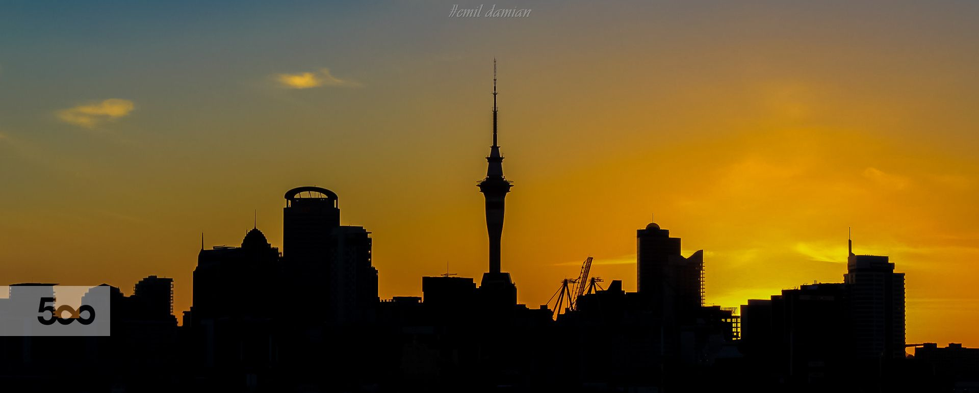 Silhouette Ii City Silhouette Auckland City Silhouette Sunset sky tower lights city night