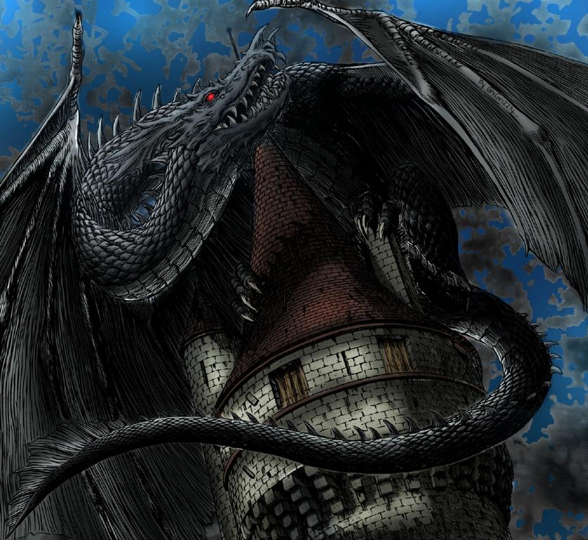 Coloured This Dragon Panel At Night Time Berserk Berserk Kentaro Miura Night Time