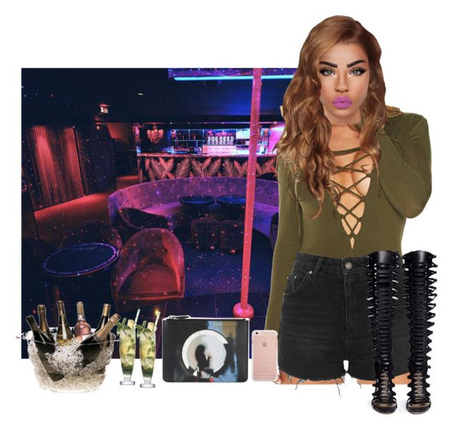 NYC - Clubbing with Friends by deeplove111 on Polyvore featuring polyvore fashion style WithChic Topshop Paul Andrew Givenchy clothing