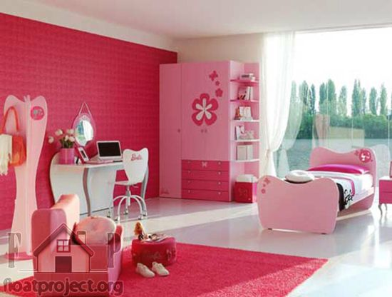 How To Furnish And Decorate Barbie Style Bedroom Girl Bedroom Designs Barbie Room Bedroom Wall Designs