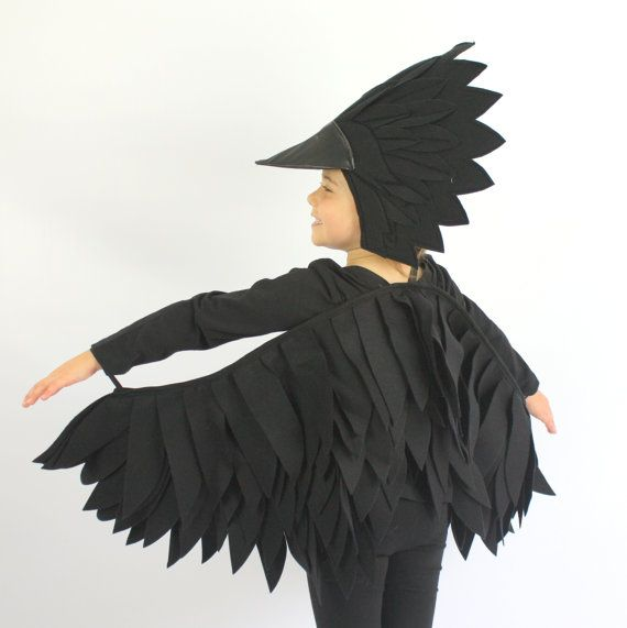 the raven handmade children 39 s costume disfraz cuervo. Black Bedroom Furniture Sets. Home Design Ideas