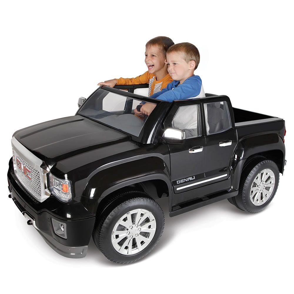 Electric Powered Mini Gmc Denali Is The Ride For Big Kid Ballers Gmc Trucks Gmc Denali Gmc Denali Truck