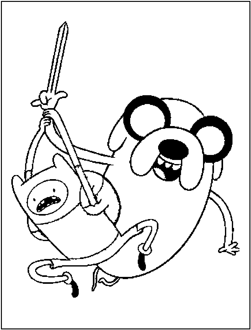 Adventure Time Coloring Pages Free Cartoon | Cartoon Coloring ...