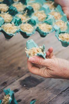 Grill- und Kaminanzünder selber machen - Zero Waste Geschenkidee #frischkäseselbermachen