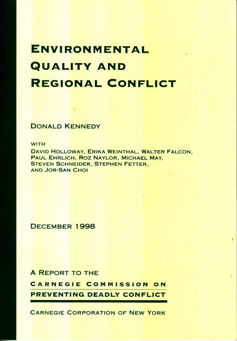 Environmental Quality and Regional Conflict