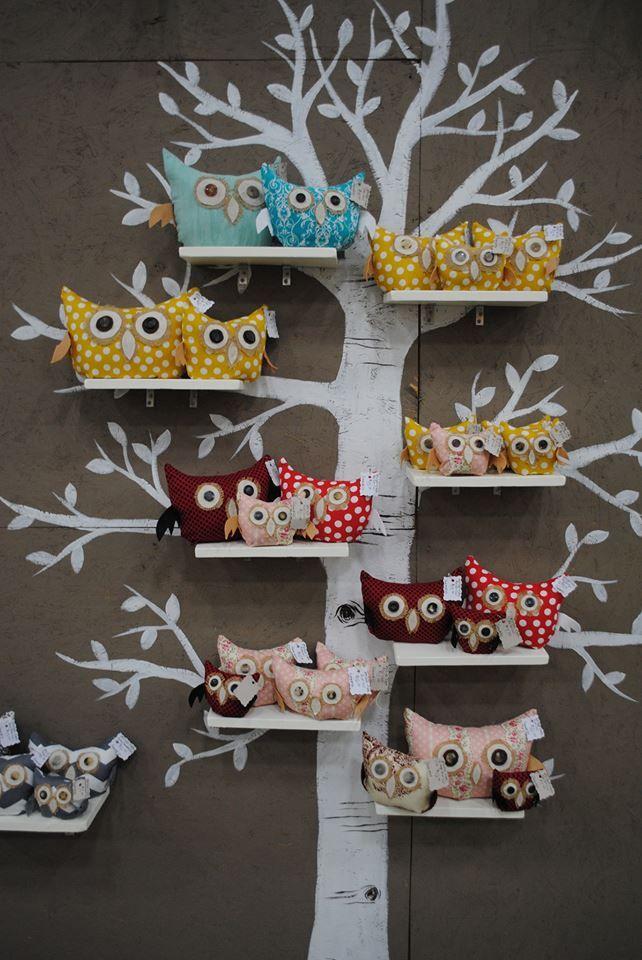 Owls on tree Pinned by www.myowlbarn.com