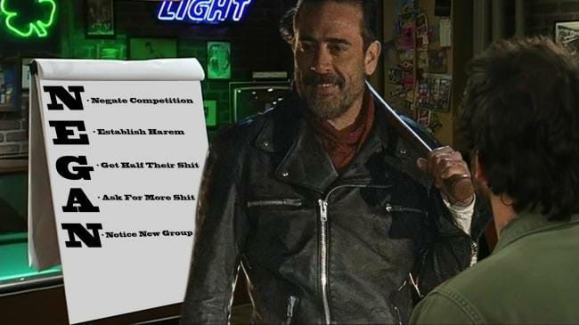 If Negan Used The Dennis System Walking Dead Memes The Walking Dead Memes