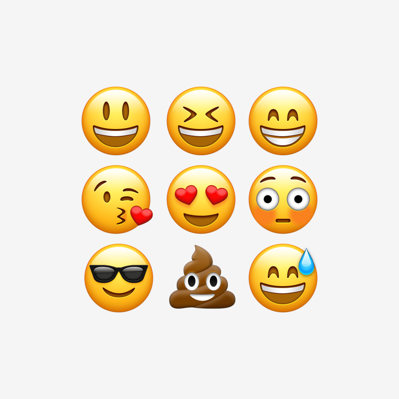 mon Emojis recreated in vector Easily edit & scale every aspect
