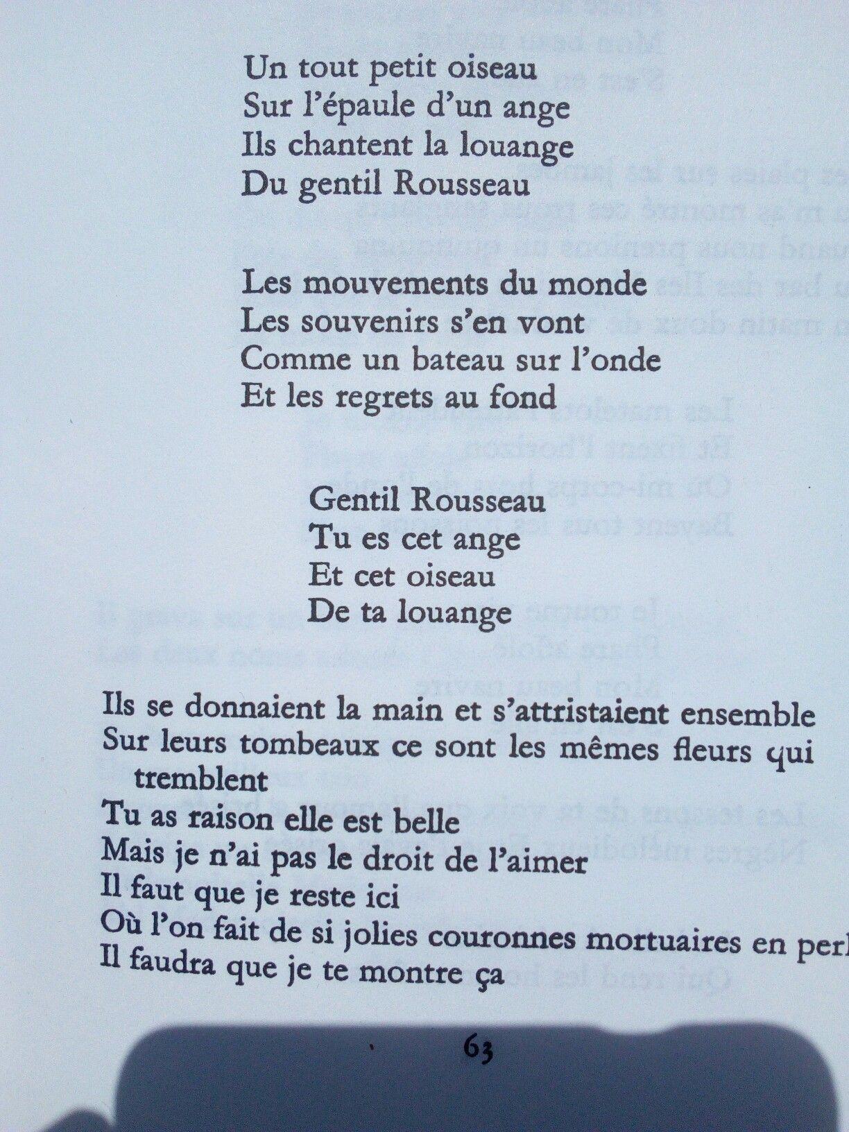 Souvenir Du Douanier Poème à Lou Apollinaire Louange