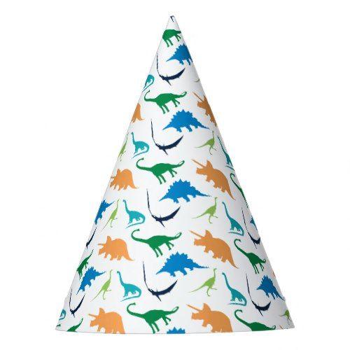 Preppy Dinosaur Birthday Party Hats Birthday party hats Dinosaur