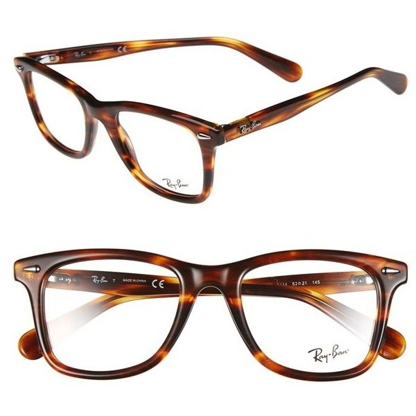 9eb71a1d5e9 Womens Ray-Ban Icon - Wayfarer 52mm Optical Glasses ( 195) ❤ liked on Polyvore  featuring accessories