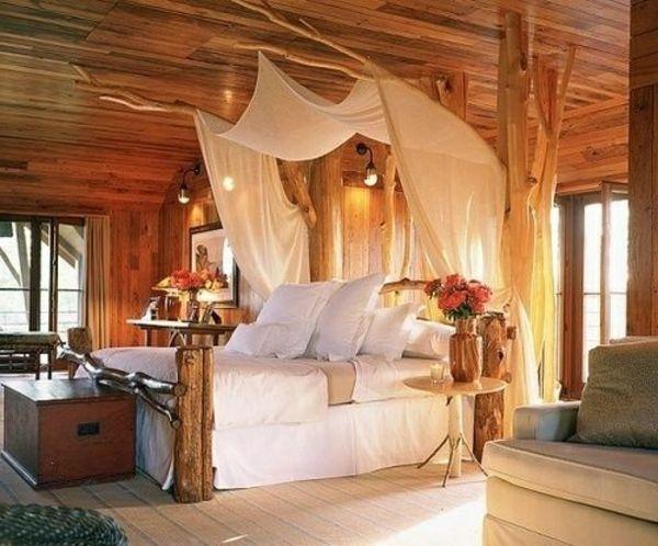 Holz Decke Weiß Baldachin