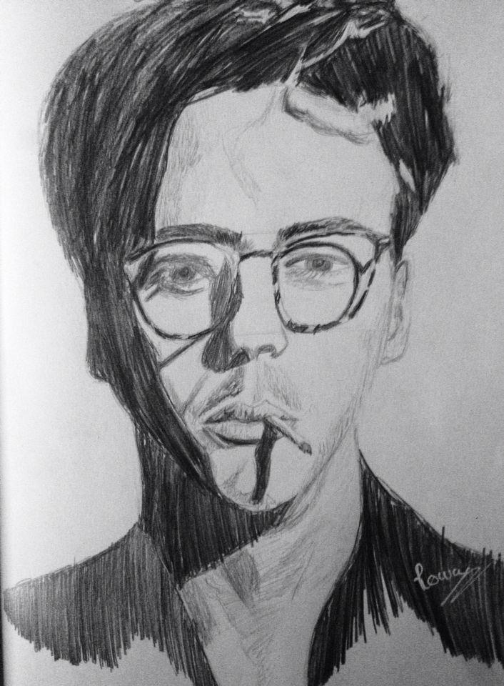 Robert Downey Junior ( jeunes )  Crayon de bois
