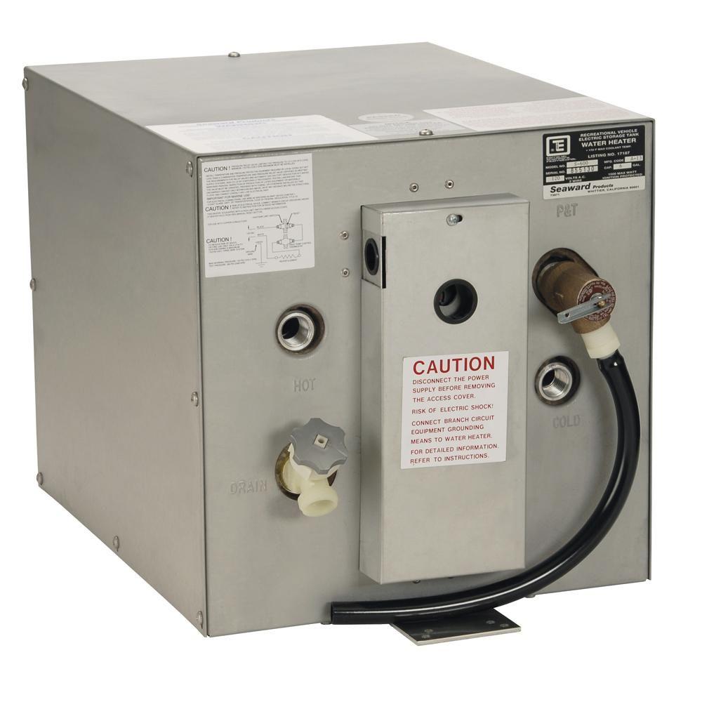 Whale Seaward 6 Gallon Hot Water Heater W Rear Heat Exchanger Galvanized Steel 120v 1500w S600 Hot Water Heater Heat Exchanger Water Heater