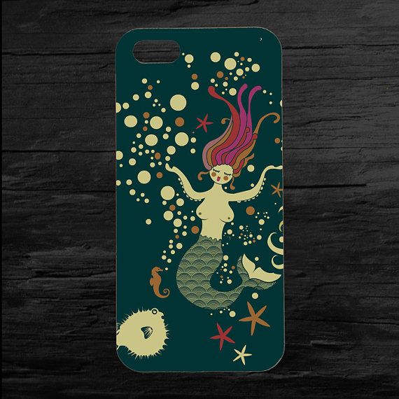 Mermaid in the Ocean iPhone 4 and 5 Case by theminifab on Etsy, $11.00