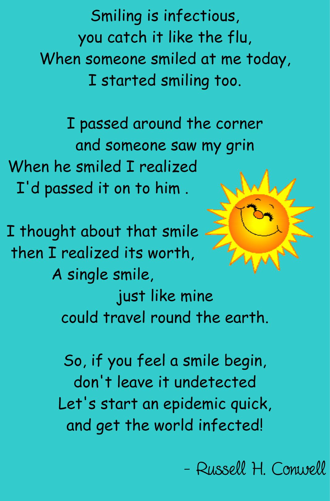 Smile poems and quotes - Smile Poem Good Things Going Around By Lisa Desatnik
