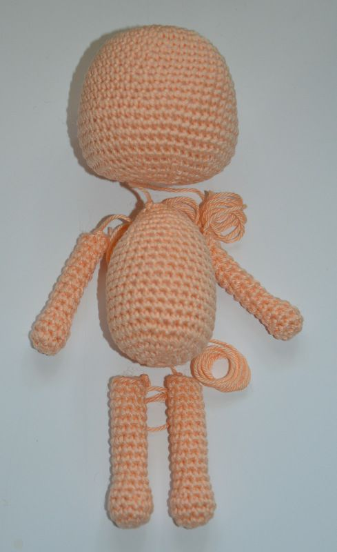 How to make a simple crochet doll. (Free pattern / tutorial ...