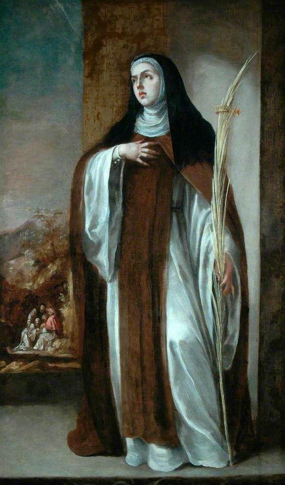 Juan de Valdés Leal - Saint Eustochium (Desert Mother) / Santa Eustoquio / Eustoquia, circa 1657–1658. The Bowes Museum.