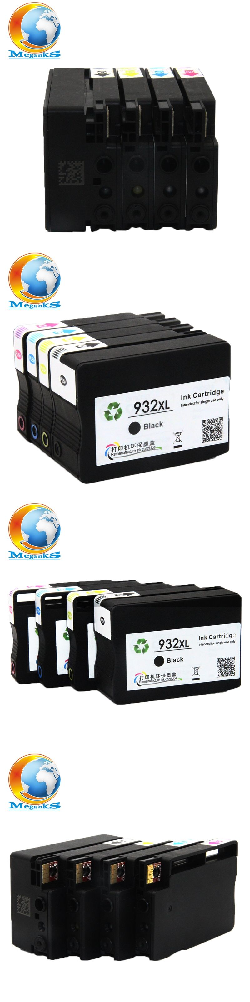 4 Colour No Pigment Ink Cartridge For HP Officejet Pro 6100 6600 6700 7110 7612 7610 7510 7512 Printer