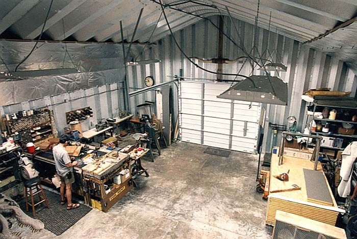 Metal workshops metal garage kits by american steel span for Garages and workshops