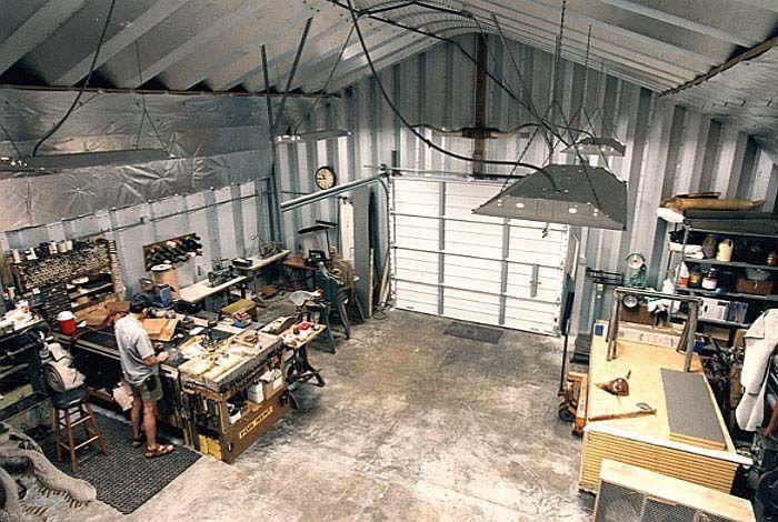 Plan Shop Garage Steel Building Interior