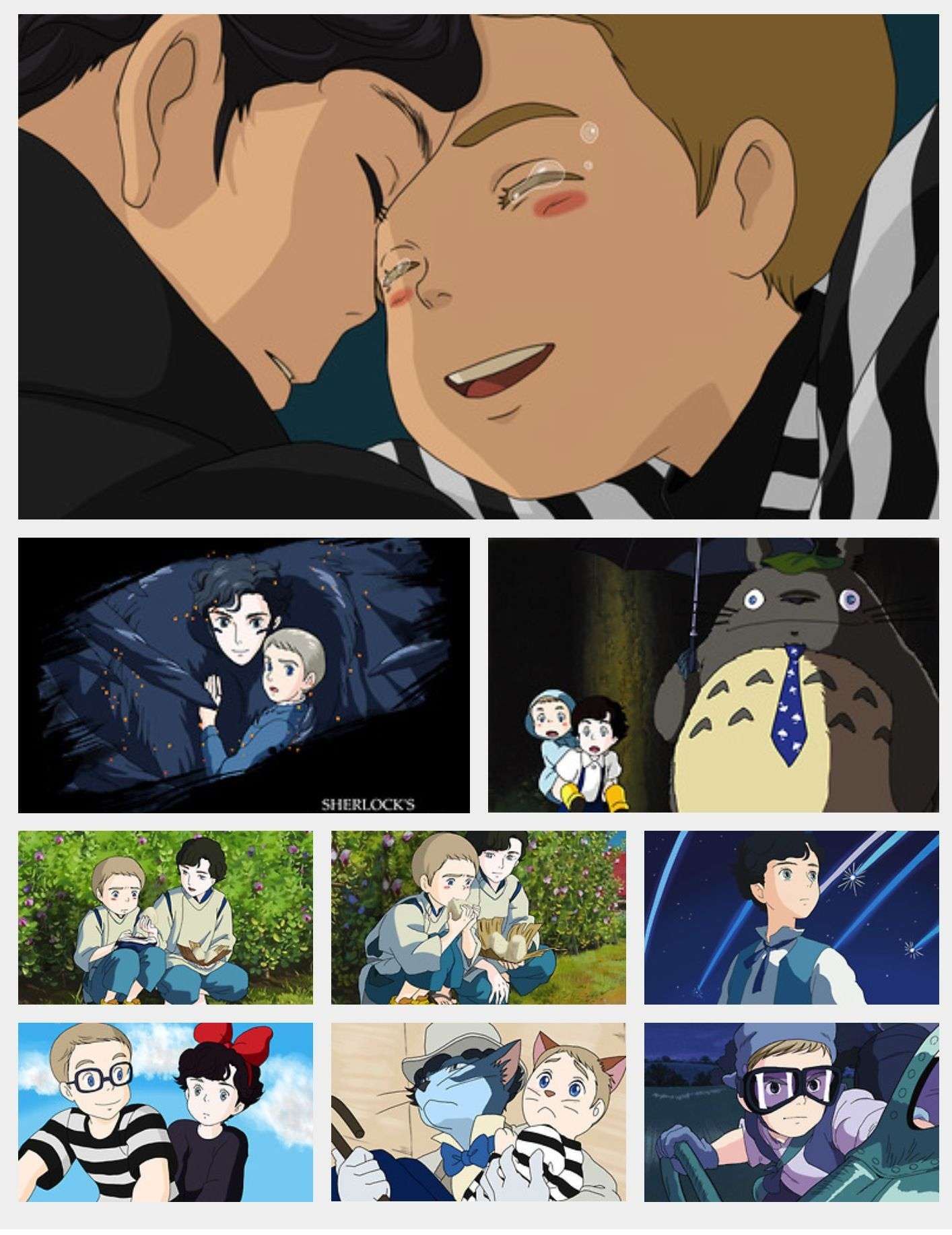 Sherlock And Ghibli I Love All Of This Almost All