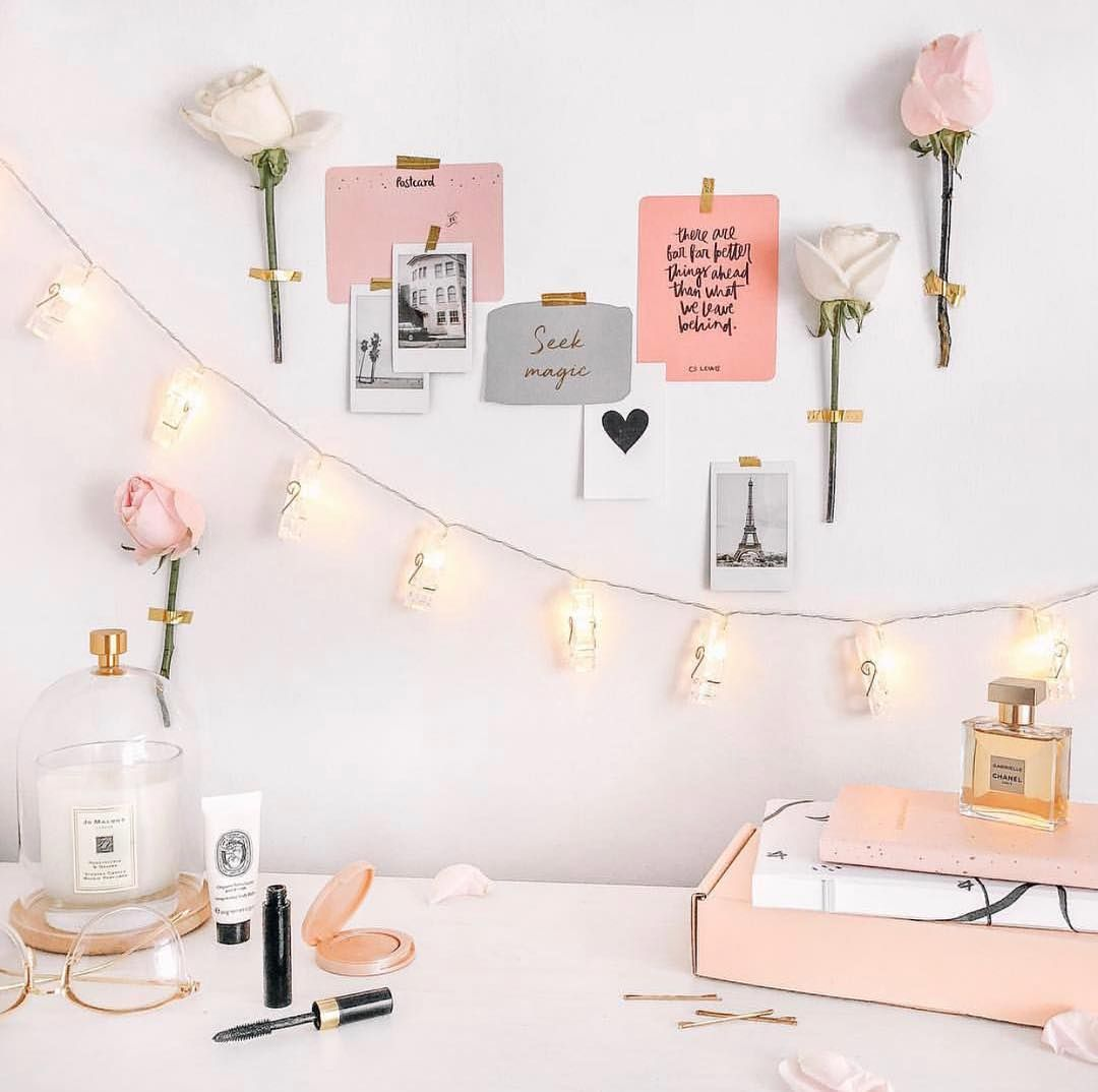 Homeoffice Furniture Design: Fairy Lights Are A Great Way To Brighten Up Your Desk