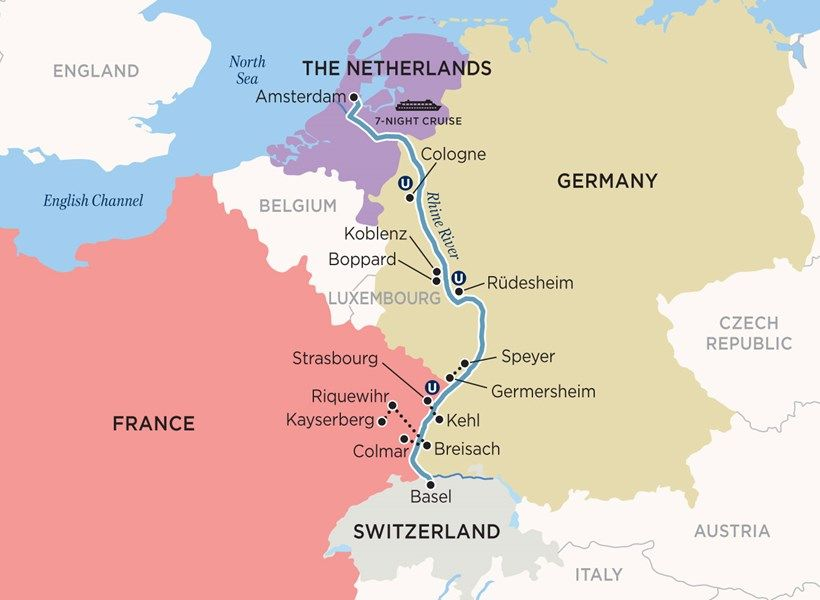 Castles On The Rhine River Cruise Travel Pinterest Rhine - Germany map rhine