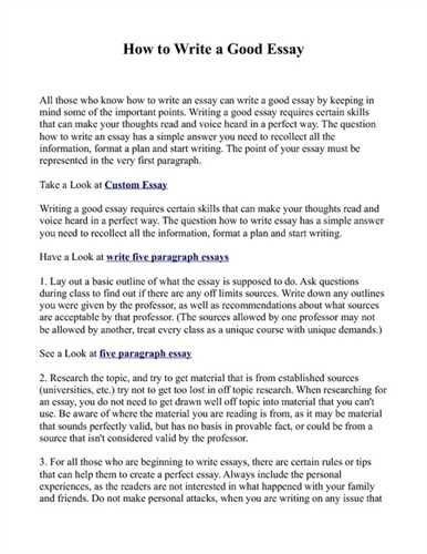Essay Writing Tips How Write Great Thesis Statement  Home Design
