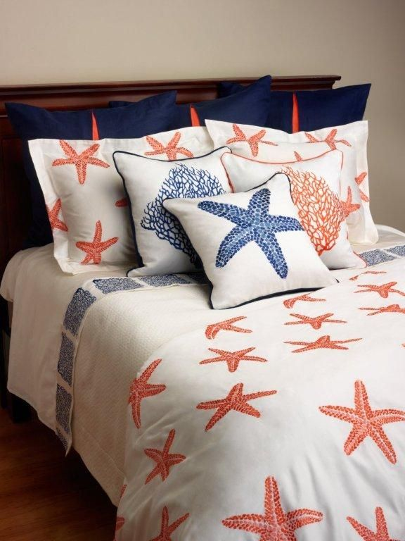I Bed Linen Sea Fan And Starfish Bedding Collections Embroidered