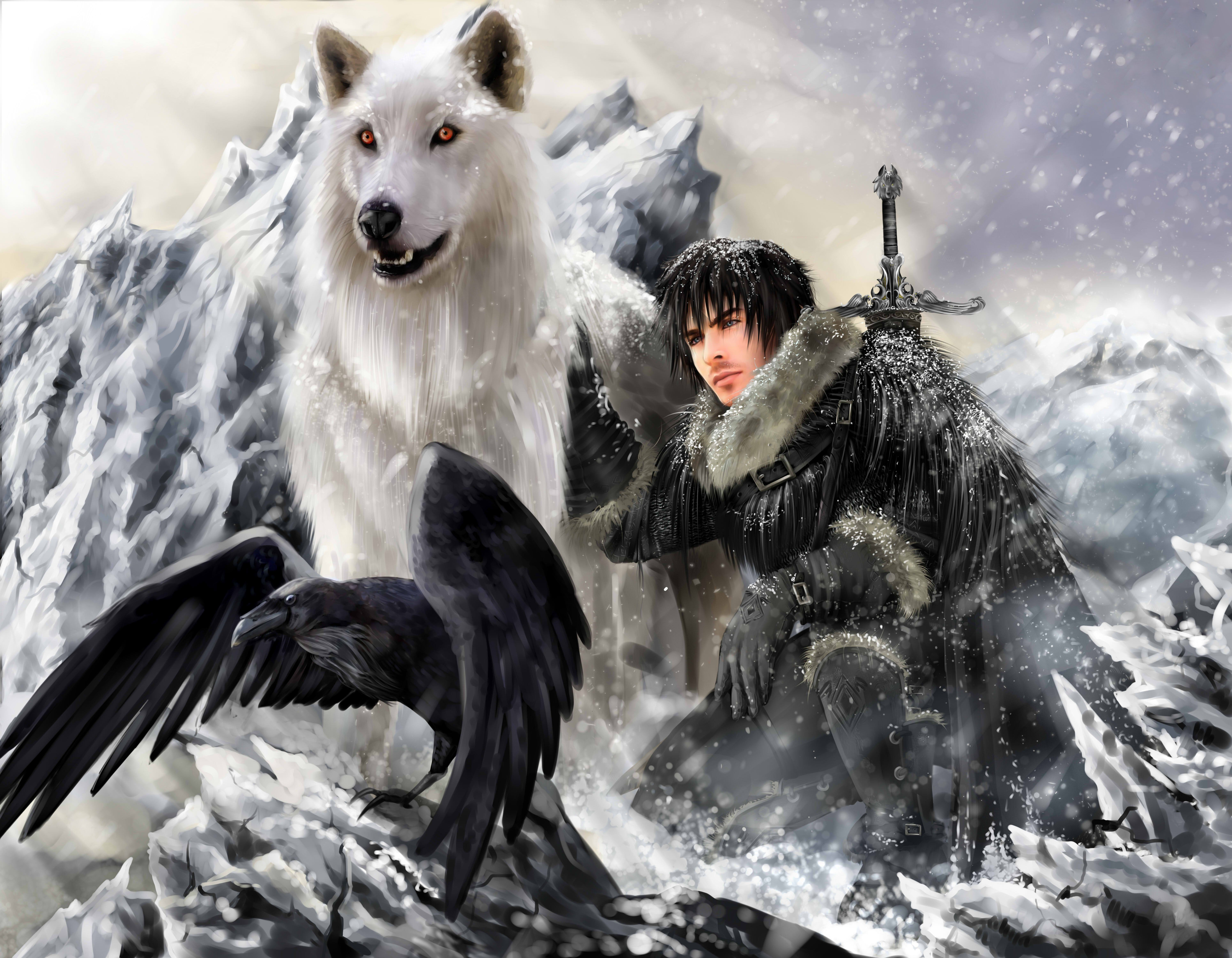 game of thrones wolves dog race
