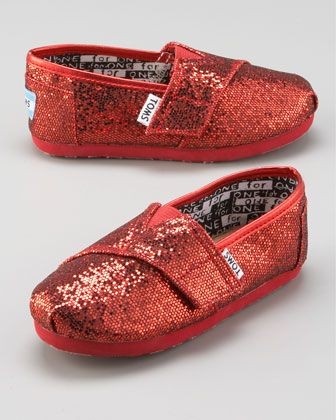 TOMS Glitter Tiny TOMS | Red glitter