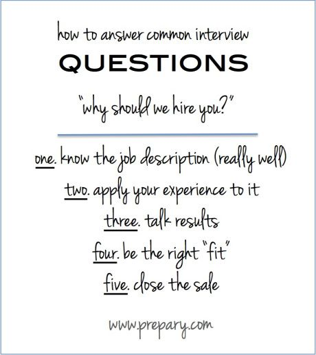 Common interview questions Why should we hire you Common - resume questions