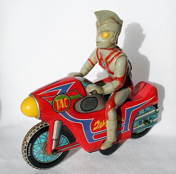 motorcycle tin toy - made in Japan