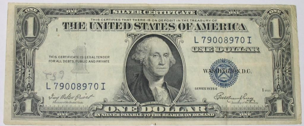 Image Result For 1940s Dollar Bill Paper Silver