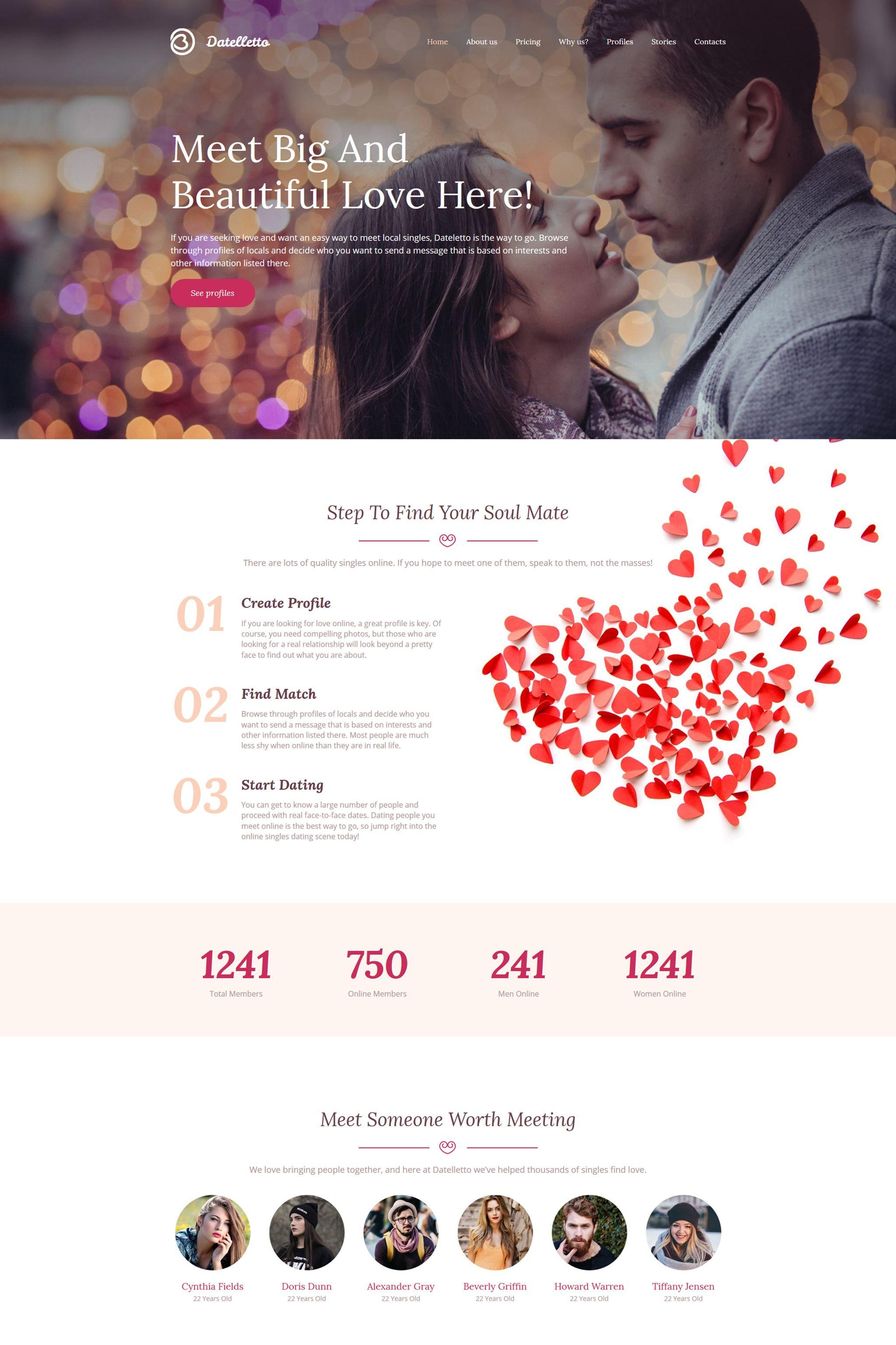 Datelletto Dating Premium Moto Cms 3 Template Pinterest Template