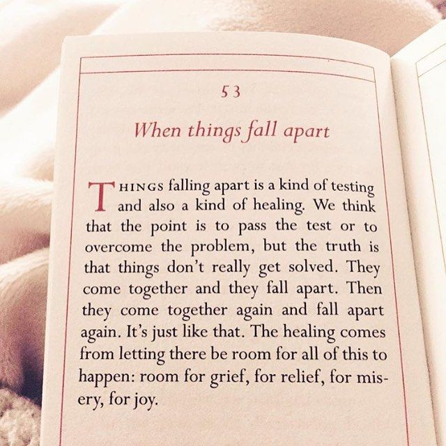 When Things Fall Apart Work In Progress Quotes Pema Chodron